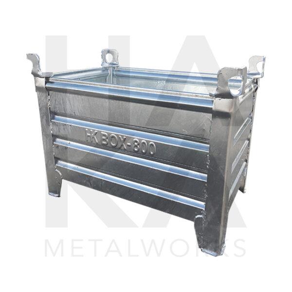 Stacking box galvanized 800x500x400