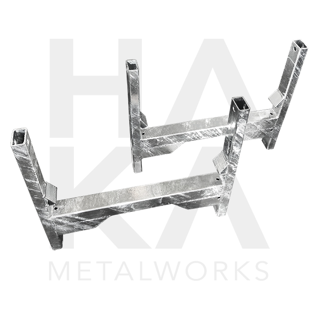 Scaffolding tube holder with double crossways