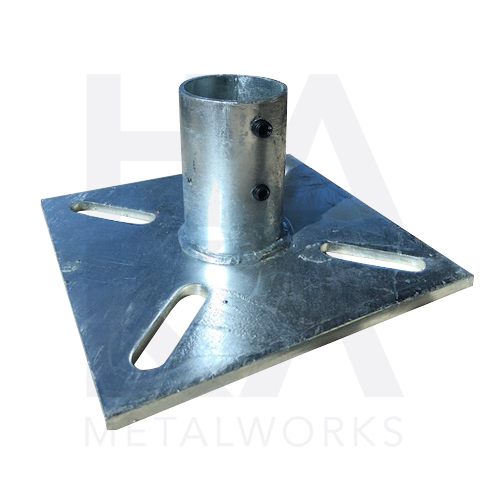 Base plate 200x200 with tube