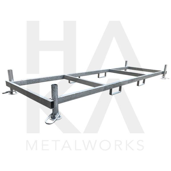 Storage rack mobile fences horizontal model