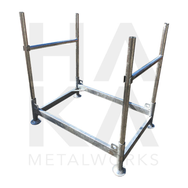 Plastic barrier storage rack
